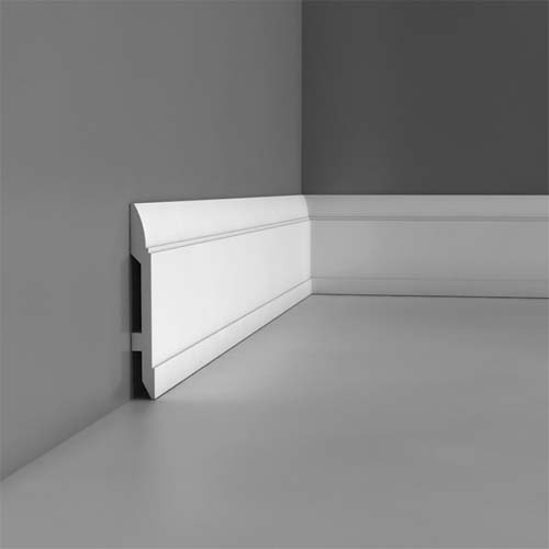 plastic skirting boards for bathrooms and kitchens orac. Black Bedroom Furniture Sets. Home Design Ideas