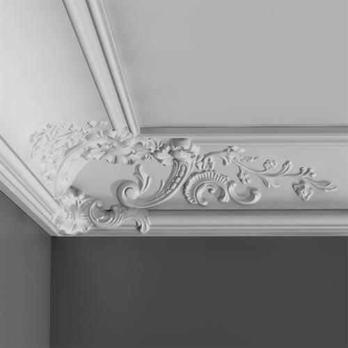 C 338b Baroque Coving Corner Decoration Interior