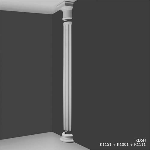 Slim Doric Half Capital Decorative Half Columns Interior Half Columns House Martin