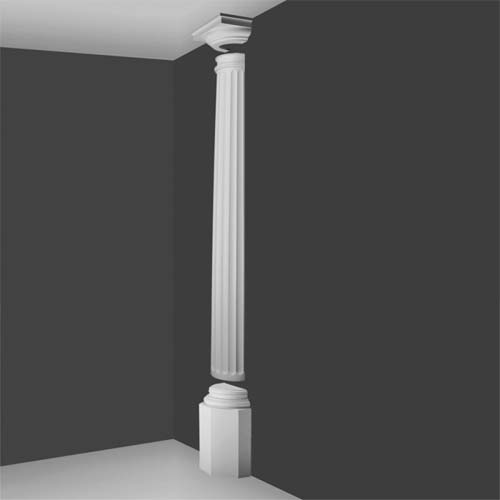 Kd 8h Doric Half Column Decorative Half Columns