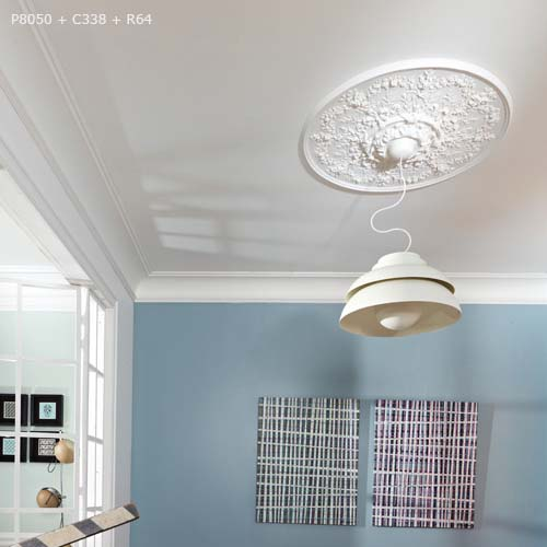 R 64 Ceiling Rose Large And Small Decorative Plaster